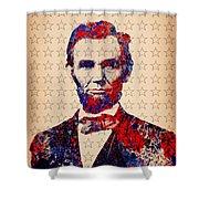 Abraham Lincoln Pop Art Shower Curtain