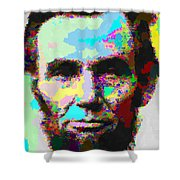 Abraham Lincoln Portrait - Abstract Shower Curtain