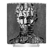 Abraham Lincoln Quote Original Typography Black And Whte Shower Curtain