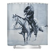 Abraham Lincoln Riding His Judicial Circuit Shower Curtain by Louis Bonhajo