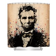 Abraham Lincoln Splats Color Shower Curtain