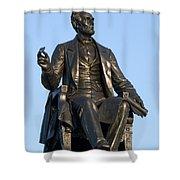 Abraham Lincoln Statue Philadelphia Shower Curtain