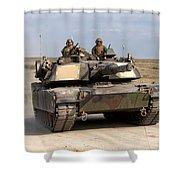 Abrams M1a1 Main Battle Tank Shower Curtain