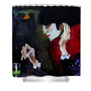 Absinthe Drinker After Picasso Shower Curtain