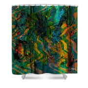 Abstract - Emotion - Apprehension Shower Curtain