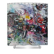 Abstract 00111 Shower Curtain