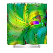 Abstract 019 Shower Curtain