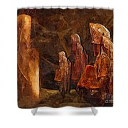 Abstract 0271 - Marucii Shower Curtain