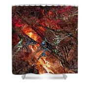 Abstract 0358 - Marucii Shower Curtain