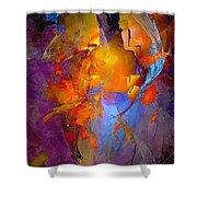 Abstract 0373 - Marucii Shower Curtain