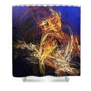Abstract 042113a Shower Curtain