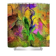 Abstract 082713a Shower Curtain