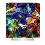 Abstract 082713b Shower Curtain
