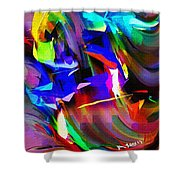 Abstract 082713d Shower Curtain