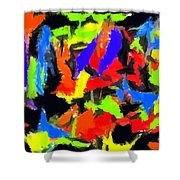 Abstract 1 Shower Curtain