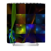 Abstract 101413 Shower Curtain