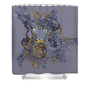 Abstract 101913 Shower Curtain