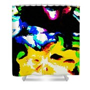 Abstract 103 Shower Curtain