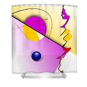 Abstract 108 Marucii Shower Curtain