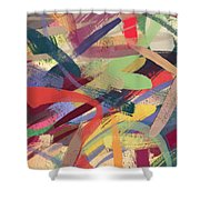 Abstract #12 Shower Curtain