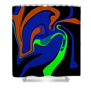 Abstract 124 Shower Curtain