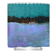 Abstract #128 Shower Curtain