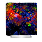 Abstract 129 Shower Curtain