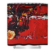 Abstract 13 - Dragons Shower Curtain