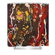 Abstract 13 - Life On The Ocean Floor Shower Curtain