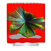 Abstract #140810 - Untitled  Shower Curtain
