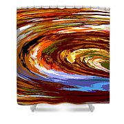 Abstract #140814 - Inside The Pipeline Shower Curtain