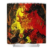Abstract #15 Shower Curtain