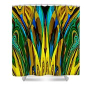 Abstract 150 Shower Curtain