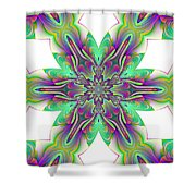Abstract 156 Shower Curtain