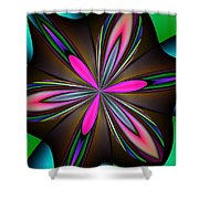 Abstract 157 Shower Curtain