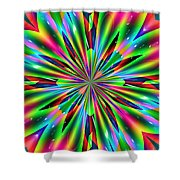 Abstract 158 Shower Curtain