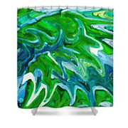 Abstract 16 Shower Curtain by Kenny Francis