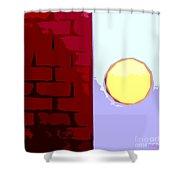 Turning The Corner Shower Curtain