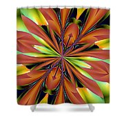 Abstract 162 Shower Curtain