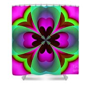 Abstract 169 Shower Curtain