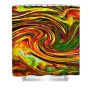 Abstract 17 Shower Curtain by Kenny Francis