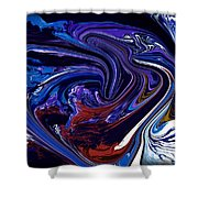 Abstract 170 Shower Curtain