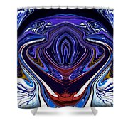 Abstract 171 Shower Curtain by J D Owen