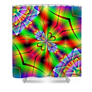 Abstract 172 Shower Curtain