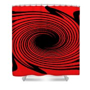 Abstract #2 Shower Curtain