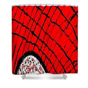 Abstract #23 Shower Curtain