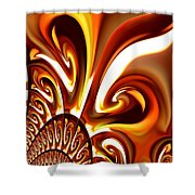 Abstract 235 Shower Curtain