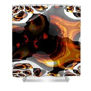 Abstract 236 Shower Curtain