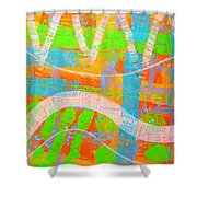 Abstract  23614   Diptych  I  Shower Curtain
