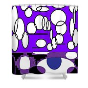 Abstract #24 Shower Curtain